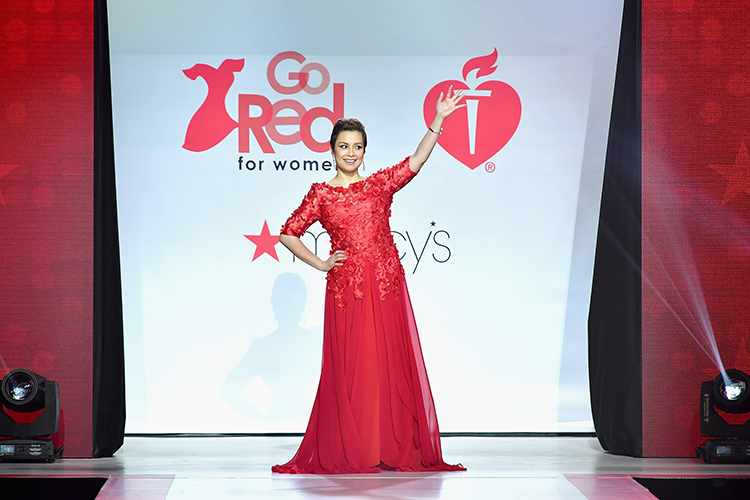 LEA SALONGA <br/>American Heart Association gala <br/>Red Dress Collection 2018 <br/>New York Fashion Week <br/>February 8, 2018