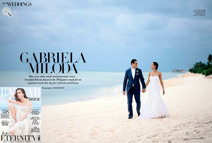 Client's destination beach wedding featured in <br/>HARPER'S BAZAAR Bride <br/>Arabia edition <br/>Spring-Summer 2014