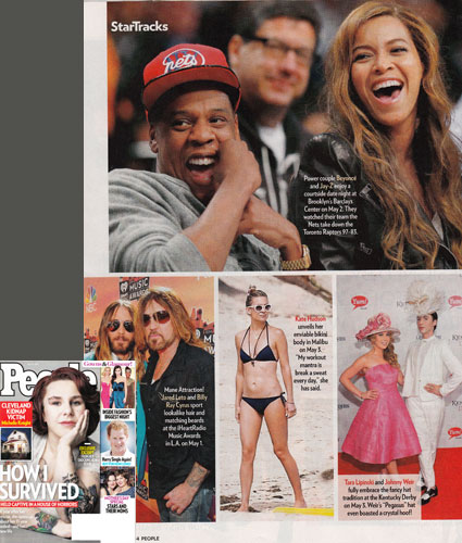 TARA LIPINSKI <br/>Eco piña & abaca fabric dress <br/>PEOPLE magazine <br/>May 19, 2014 issue
