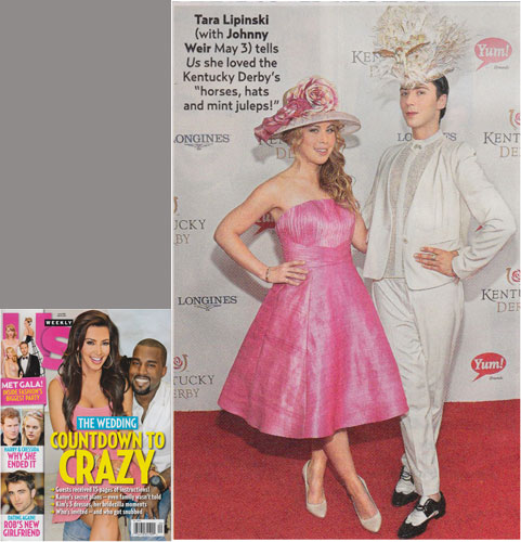 TARA LIPINSKI <br/>Eco piña & abaca fabric dress <br/>US WEEKLY magazine <br/>May 19, 2014 issue
