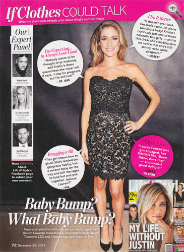Mom-to-be KRISTIN CAVALLARI <br/>Life & Style magazine <br/>December 23, 2013 issue