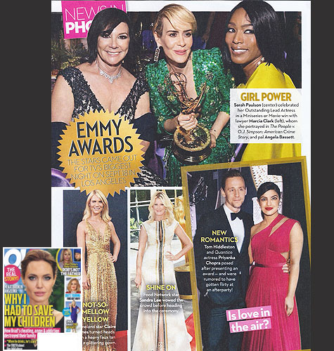 <br/>MARCIA CLARK <br/>2016 Emmy Awards <br/>OK! Magazine <br/>October 10, 2016 issue