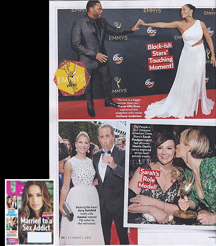 MARCIA CLARK <br/>2016 Emmy Awards <br/>US Weekly magazine <br/>October 3, 2016 issue