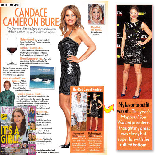 CANDACE CAMERON-BURE <br/>Calls this dress her 'favorite look' <br/>Life & Style magazine <br/>August 4, 2014
