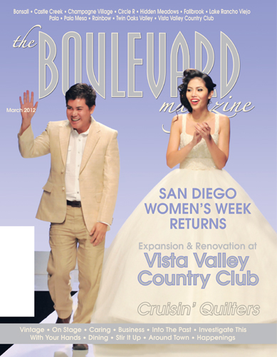 San Diego's<br/>the Boulevard magazine<br/>March 2012