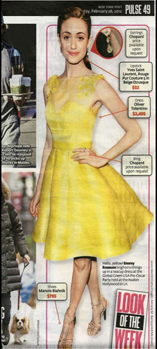 New York Post<br/>Look of the Week <br/>February 2012