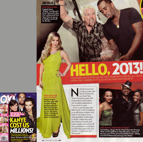 FERGIE<br/> OK! Magazine USA<br/>  January 21, 2013 issue