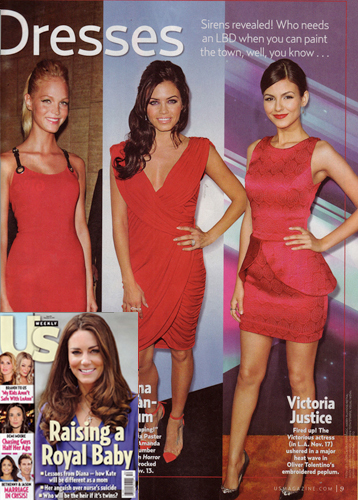 Victoria Justice<br/>'Red Carpet'<br/> US WEEKLY magazine<br/>Dec 24, 2012 issue